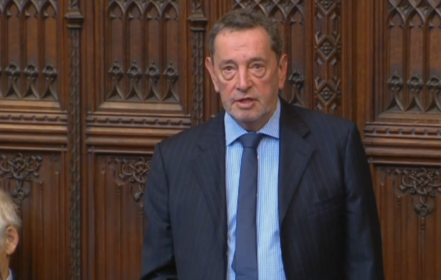 Labour peer Lord Blunkett addresses the debate