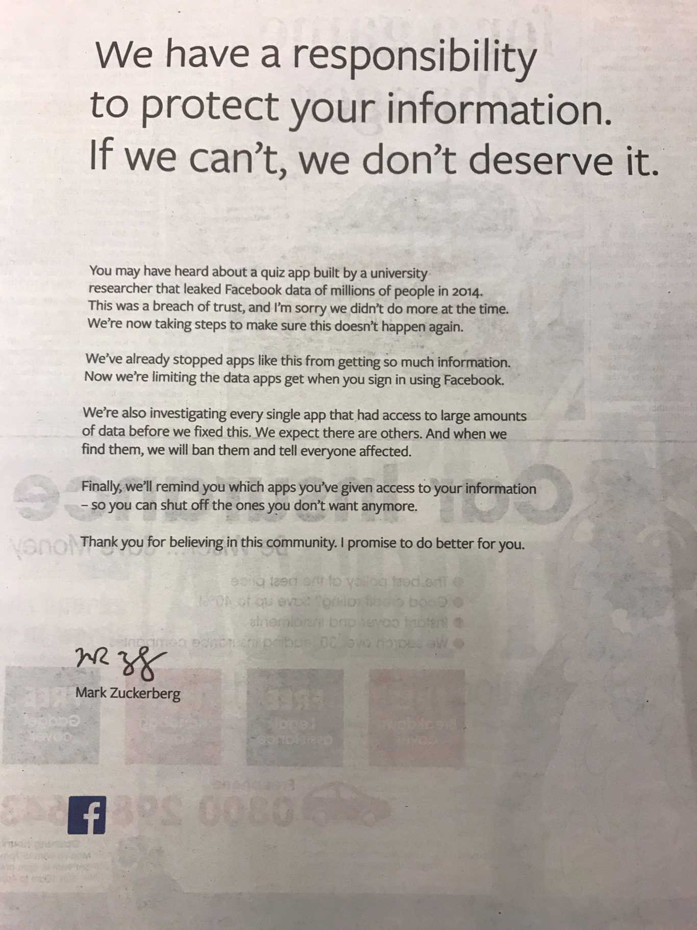 facebook in privacy breach essay This week marks the 10th anniversary of facebook, and to help commemorate this milestone i wrote an essay for the washington post that postulates an early framework of mark zuckerberg's.