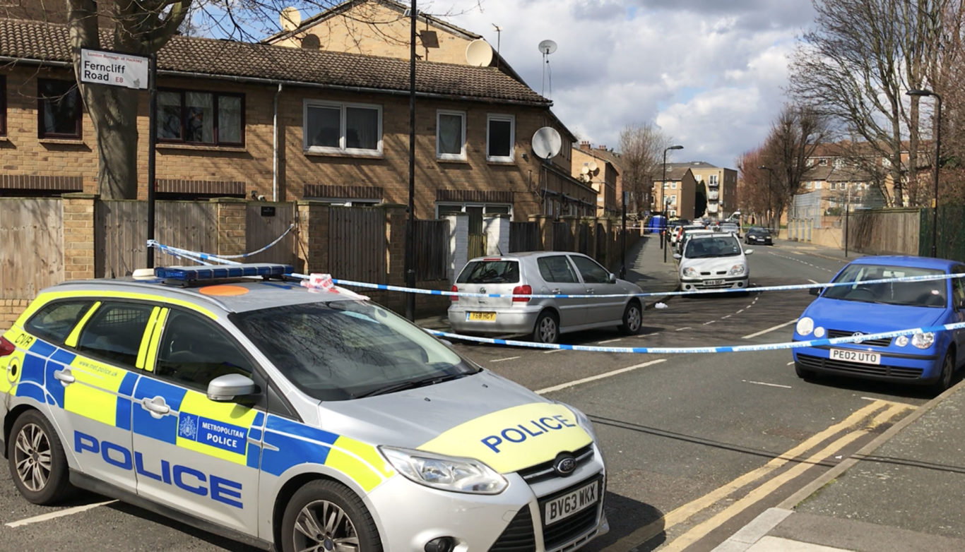 Police at the scene in Hackney, east London (Jamie Johnson/PA)
