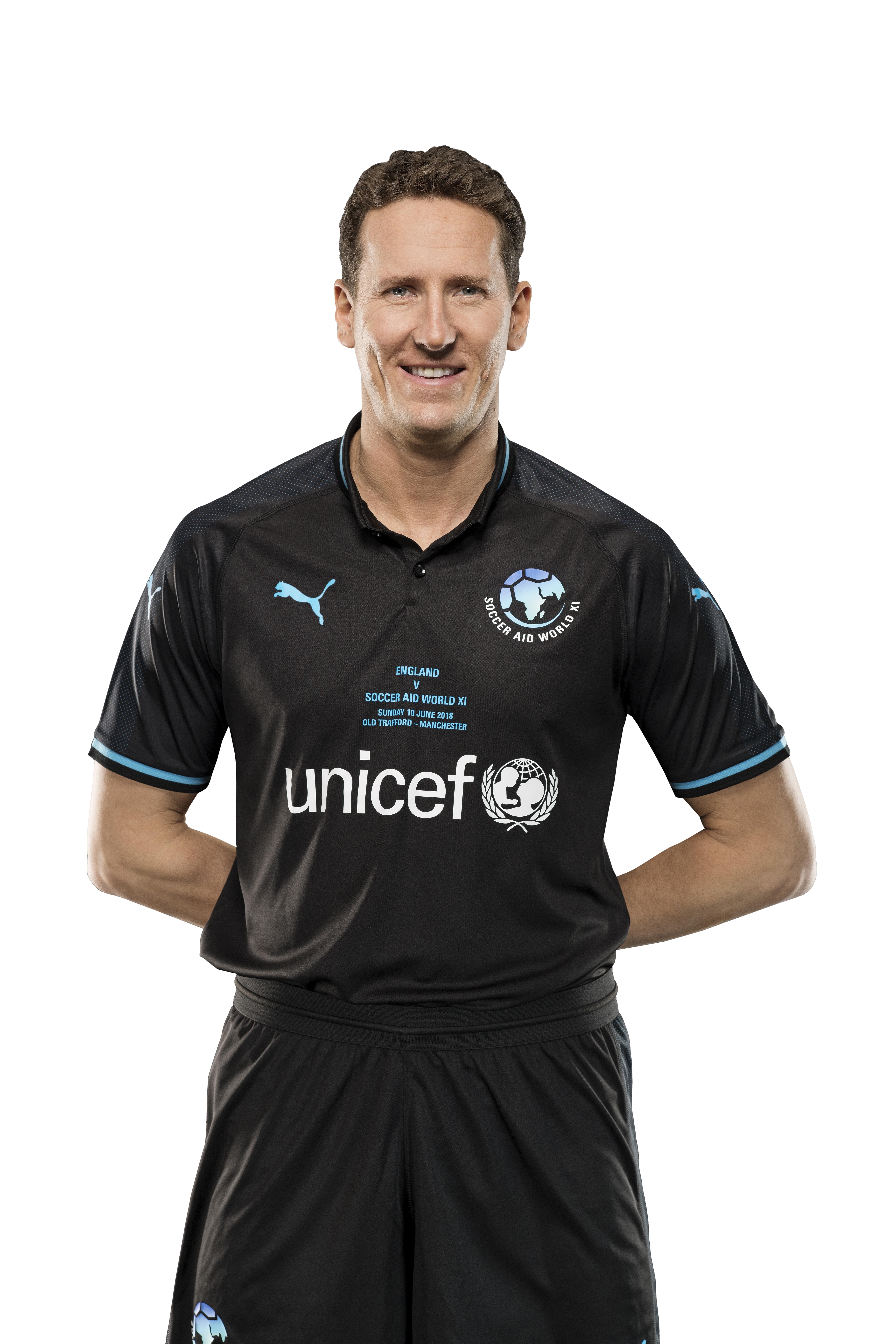 Brendan Cole plays for Soccer Aid for Unicef (SoccerAid/Unicef)