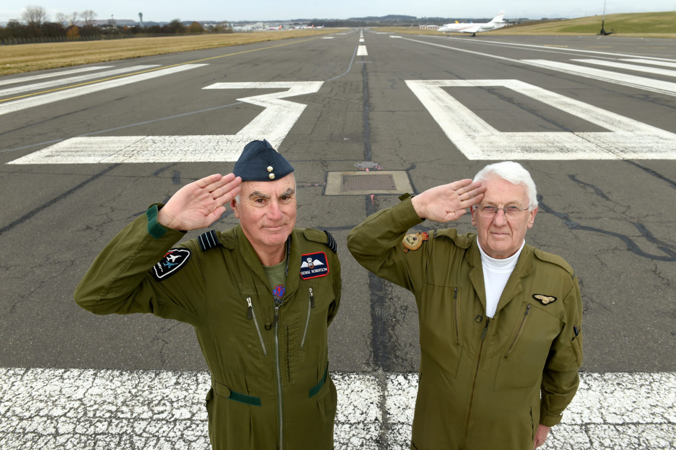 George Robertson (left) and Hamish MacLeod say the 12/30 runway holds special memories for them (Lesley Martin/PA)