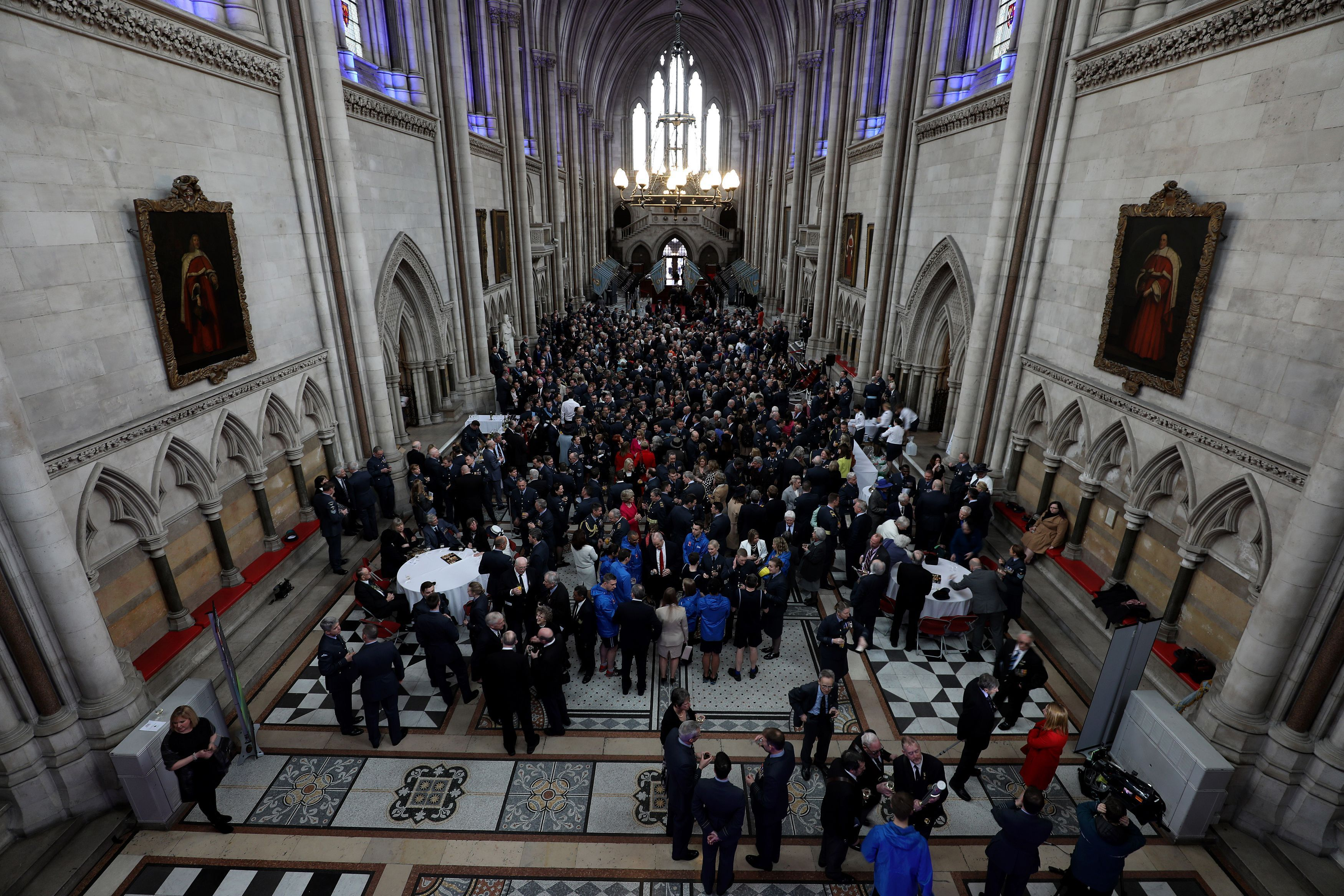 Guests inside the Royal Courts of Justice ahead of the Baton Relay Launch and First Leg (Steven Paston/PA)