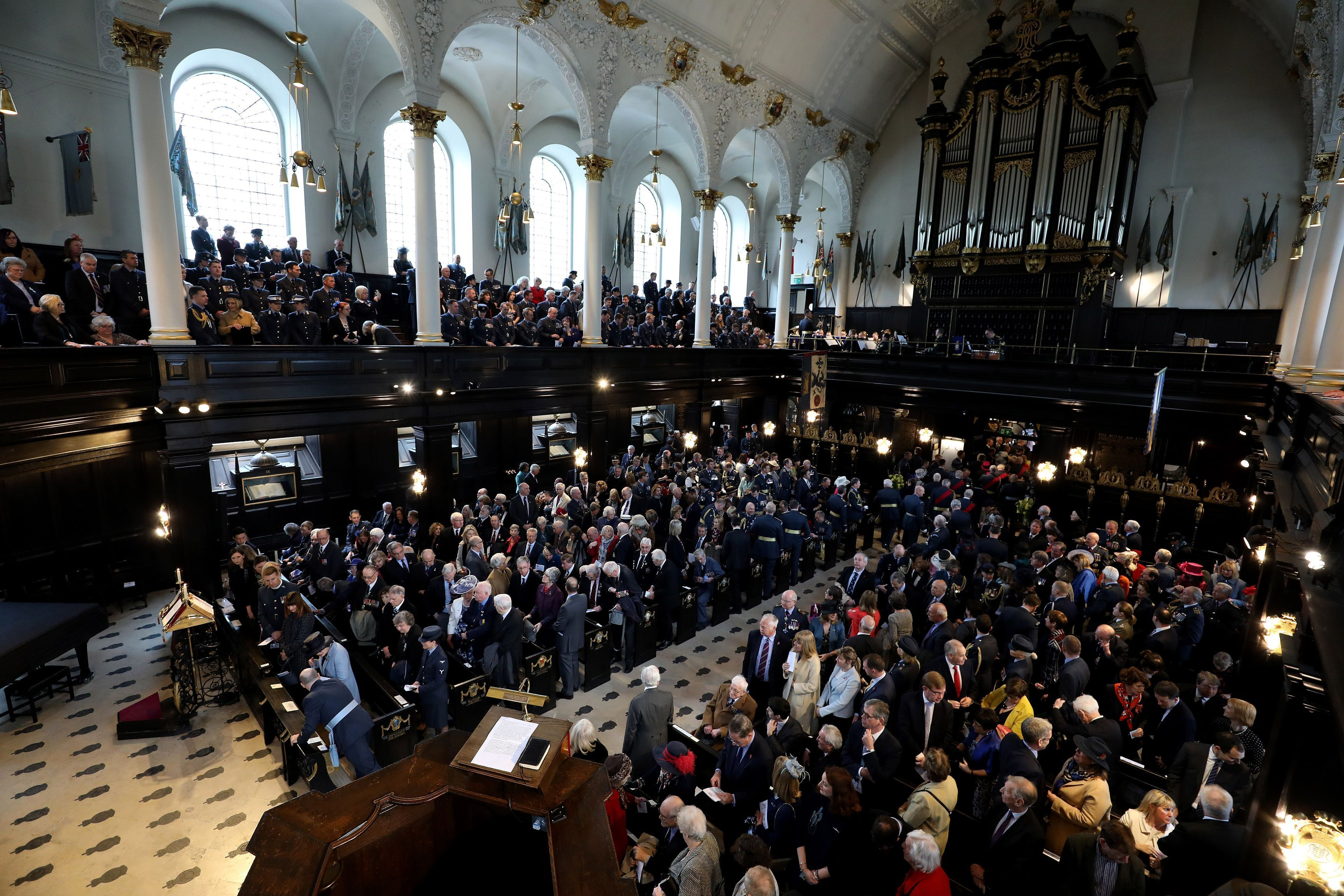 The Founders' Day Service at St Clement Danes Church in London (Steven Paston/PA)