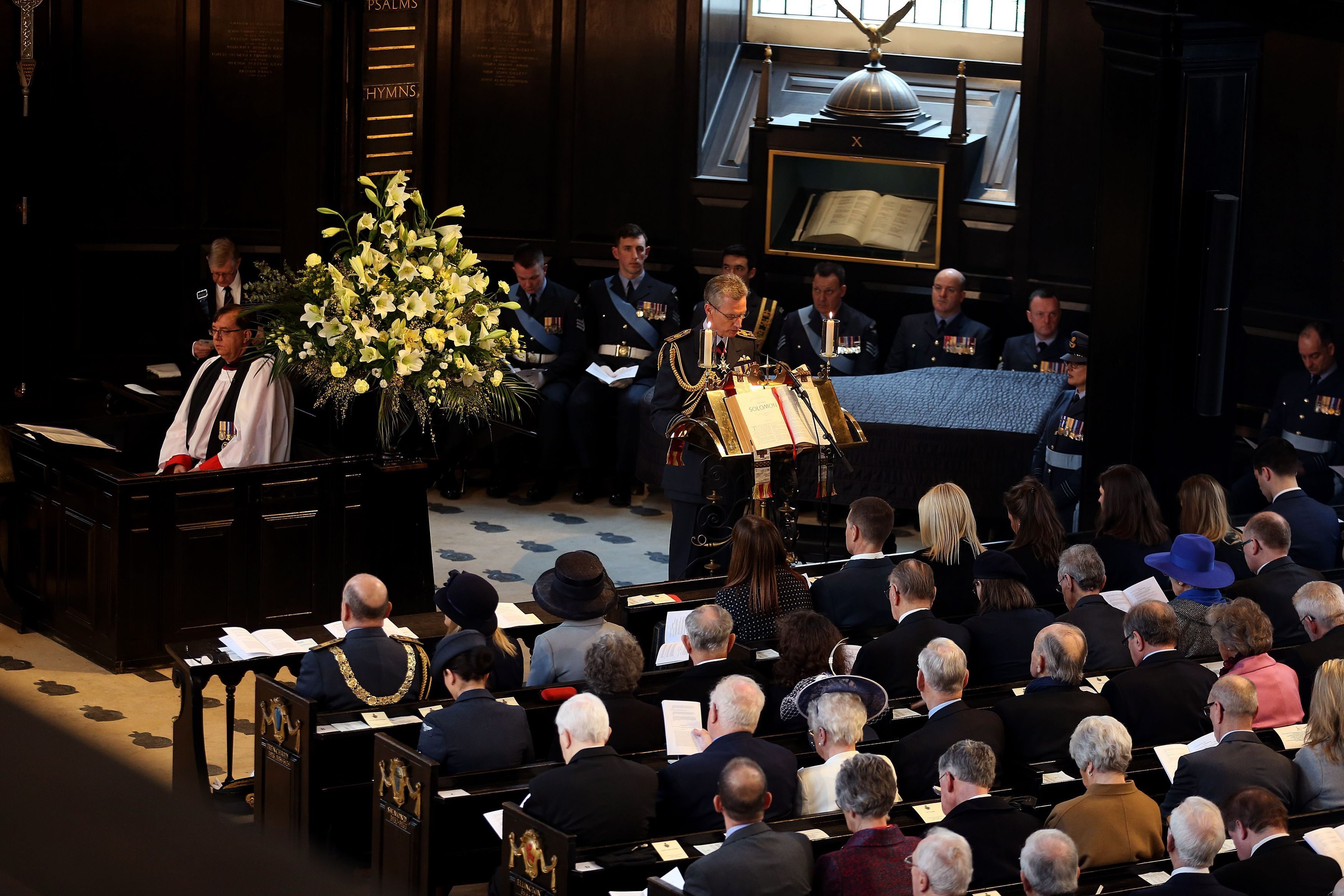 Air Chief Marshal Sir Stephen John Hillier gave a reading at the Founders' Day Service (Steven Paston/PA)