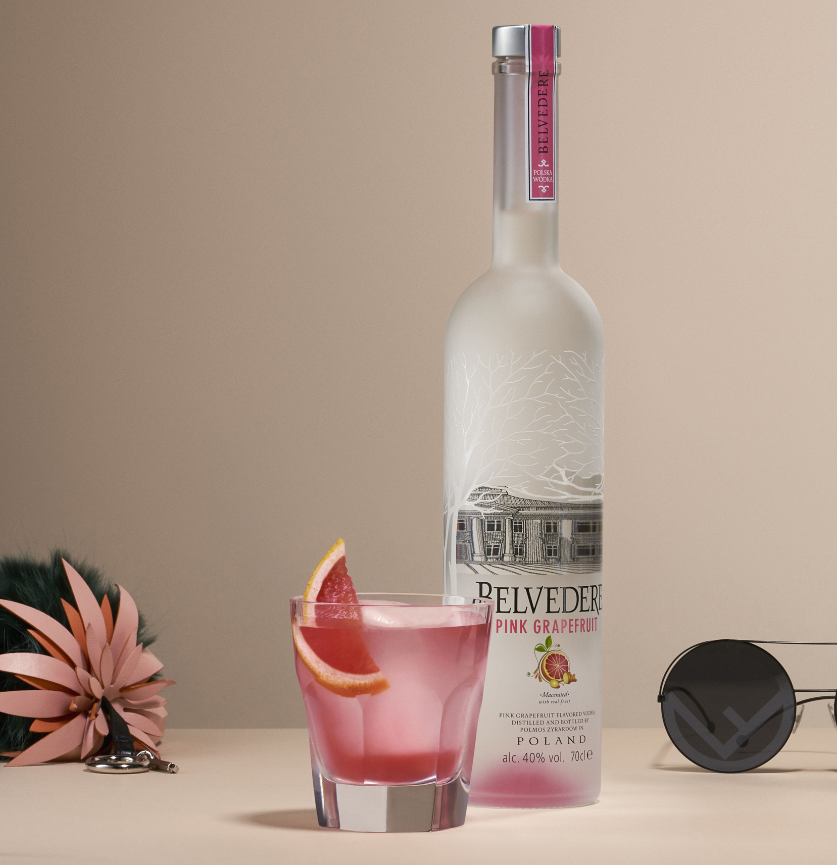 Belvedere Pink Grapefruit Vodka cocktail