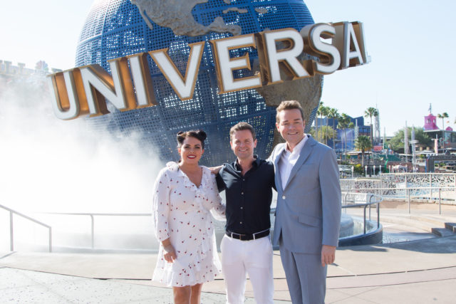 Declan Donnelly with Scarlett Moffatt and Stephen Mulhern (ITV/PA)