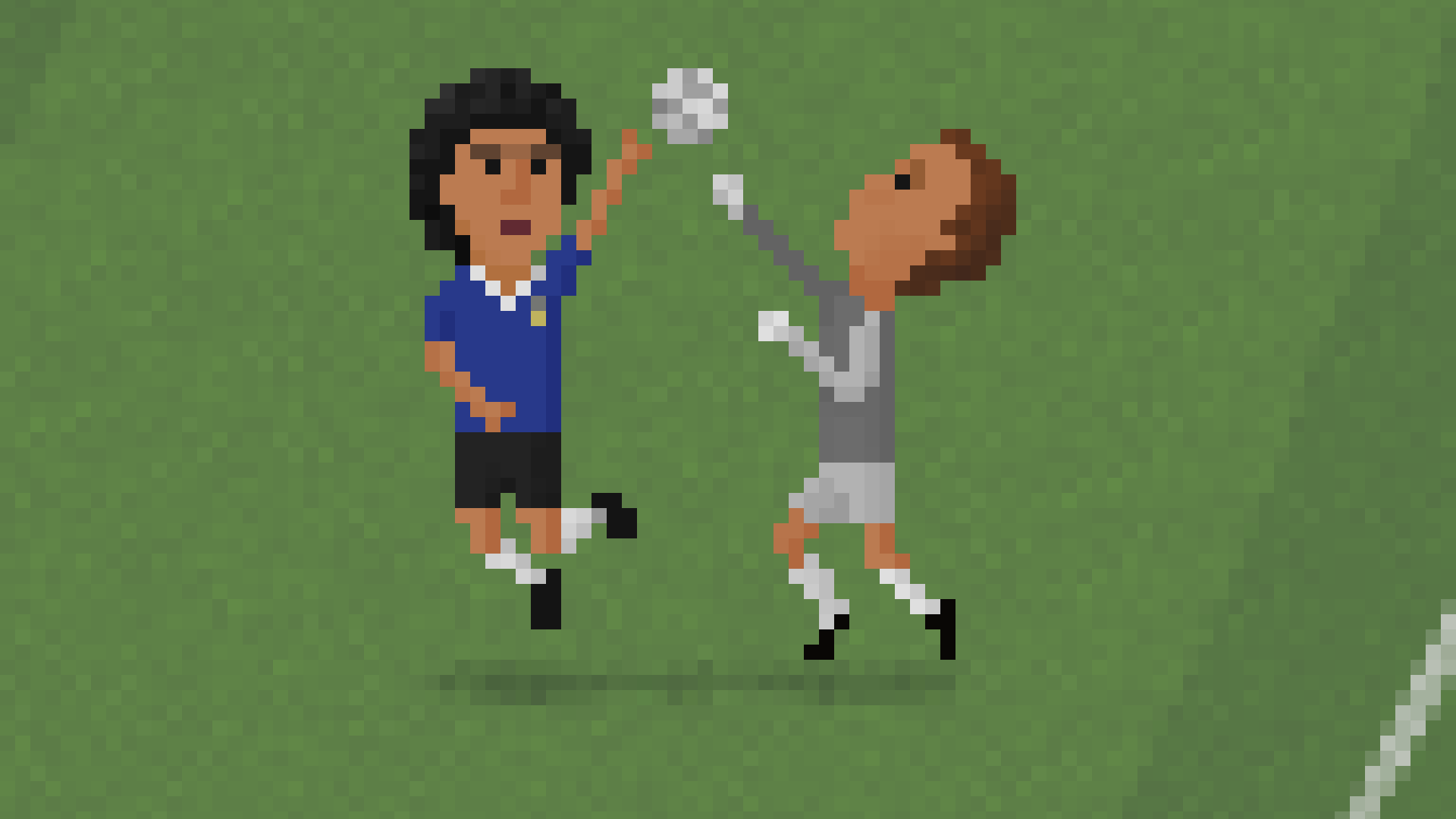 Maradona's hand of god in 8bit