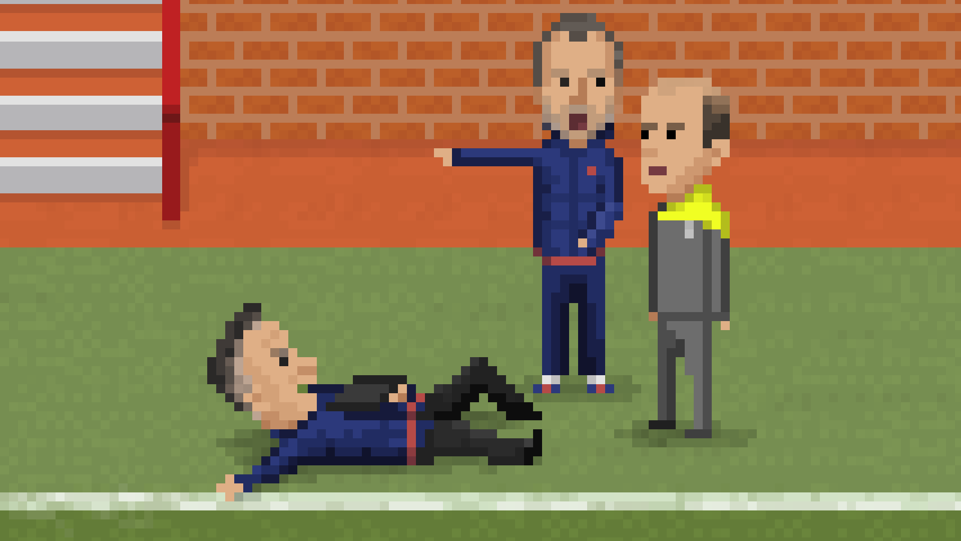 Van Gaal on the ground