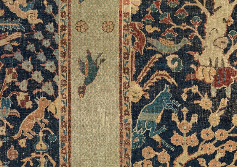 A detail from the Wagner Garden Carpet (Glasgow Museums/PA)