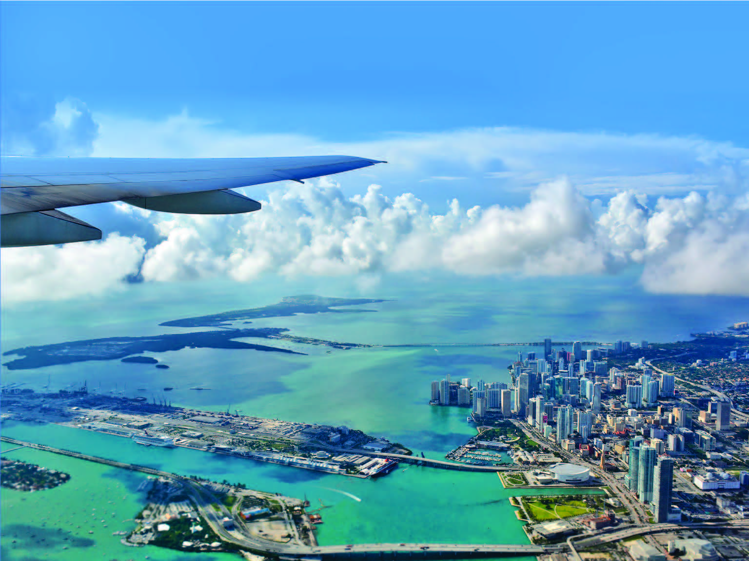 Landing at Miami airport