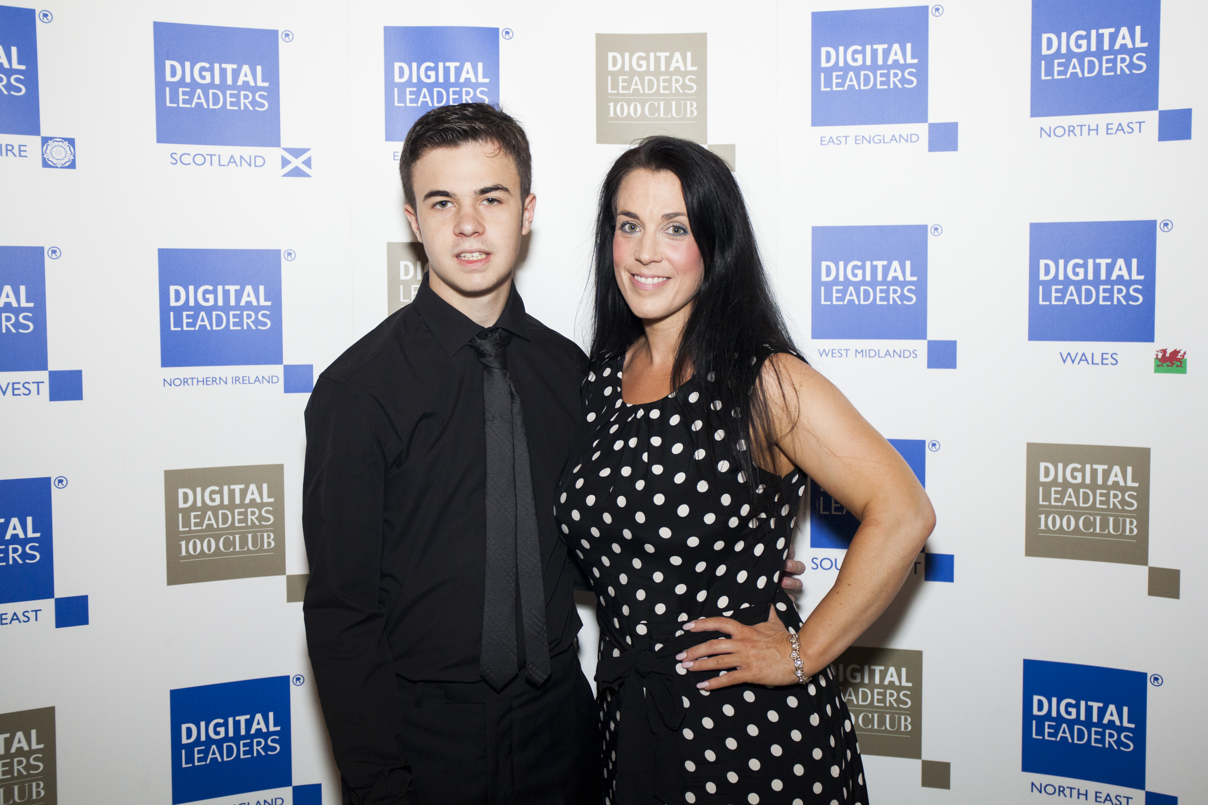 Lewis with his mum, Emma (Digital Leaders/PA)