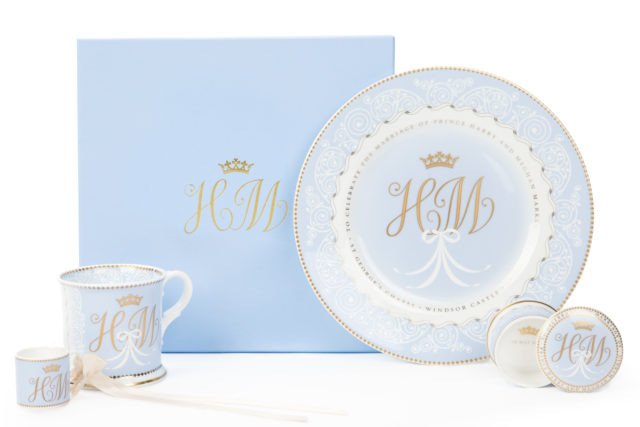 The Royal Collection's official wedding china (Royal Collection Trust/Her Majesty Queen Elizabeth II 2018/PA)