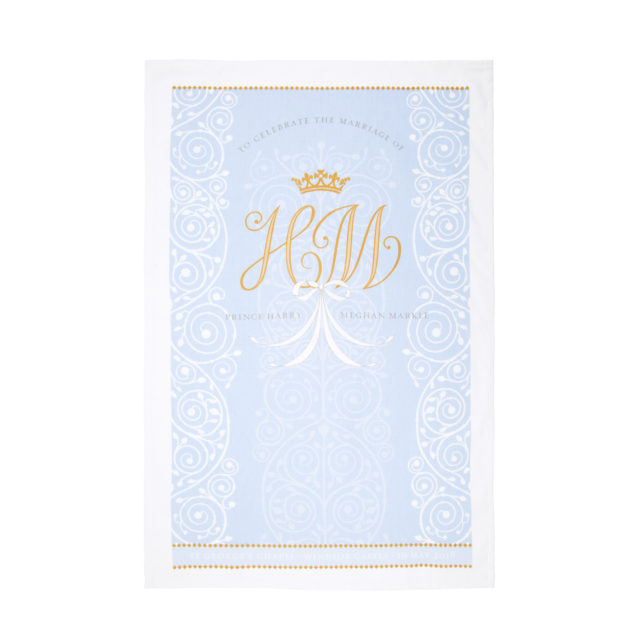 The Royal Collection's royal wedding tea towel (Royal Collection Trust/ Her Majesty Queen Elizabeth II 2018/PA)