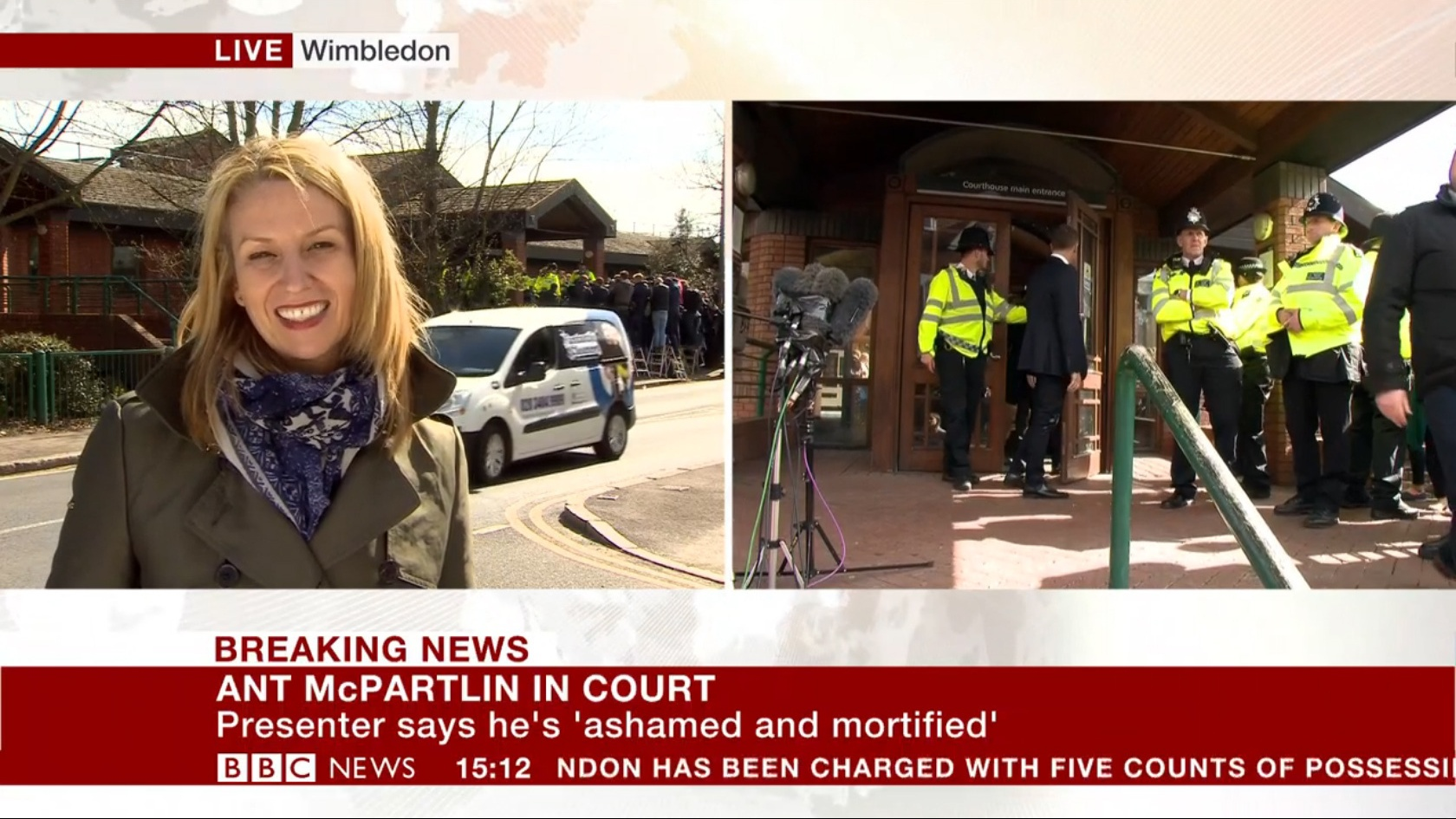 The accident happened directly behind Alison Freeman outside the court (BBC/PA)