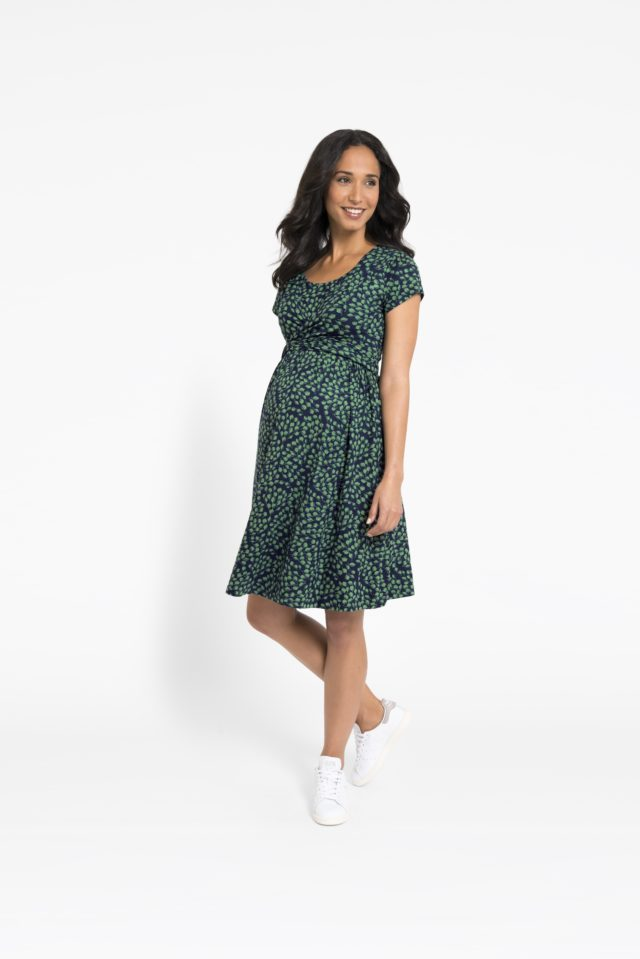 5b9f5fb6745 Green bud wrap dress (JoJo Maman Bebe PA)