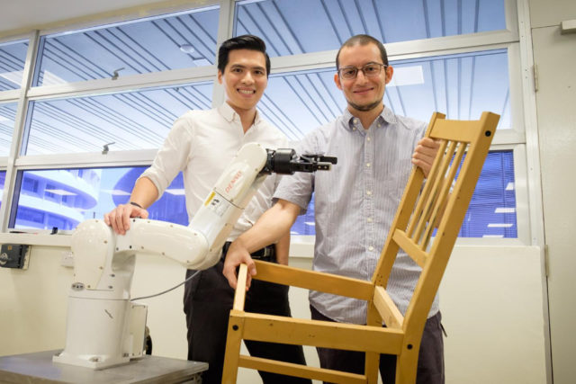 NTU Singapore's robotic arms.