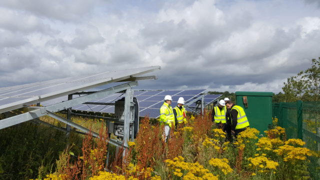 Solar power is being supplied to tenants at a business park in Perth, raising revenue for the council (Perth and Kinross Council/PA)