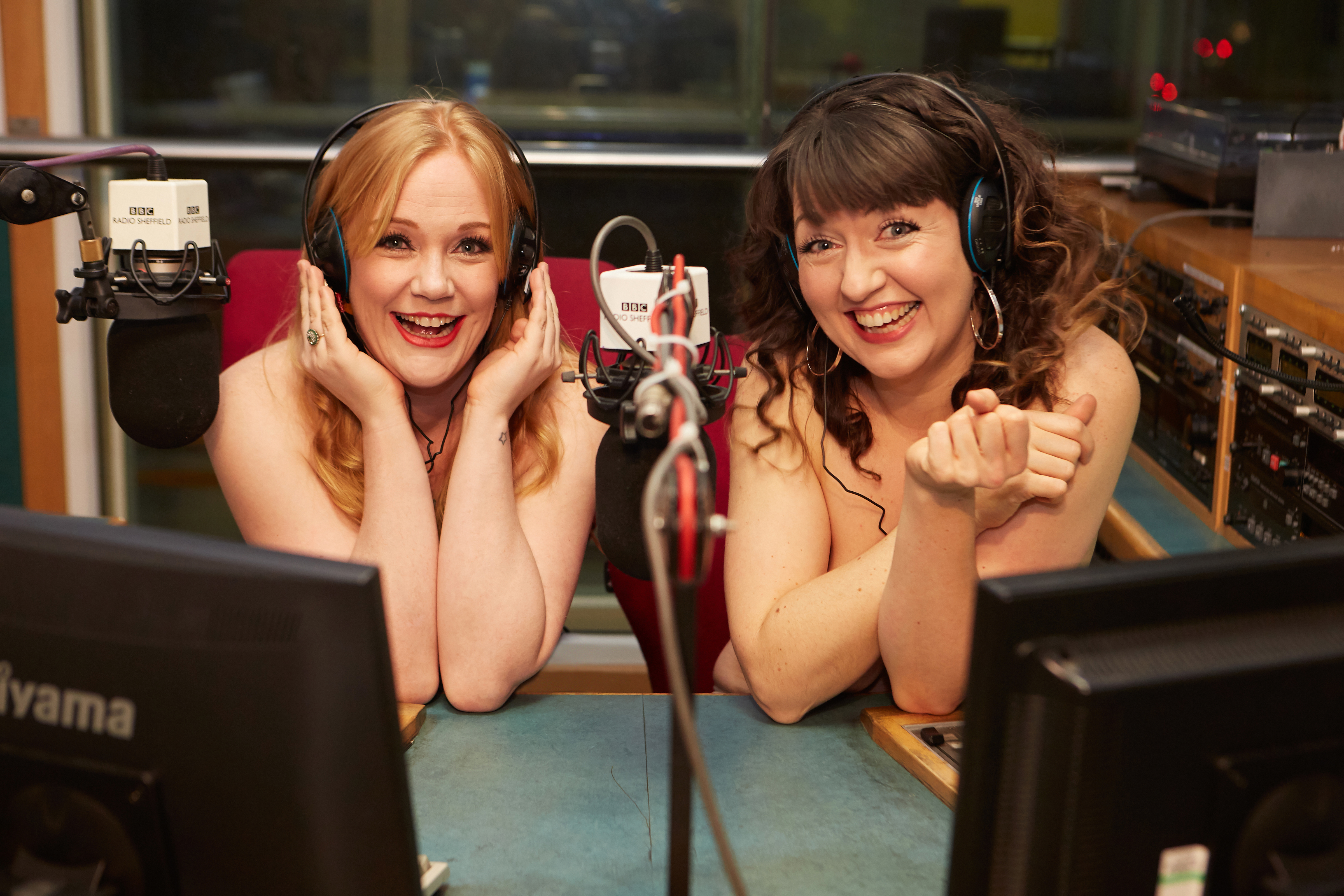Naked Podcast reporters Kat Harbourne and Jenny Eells (BBC)