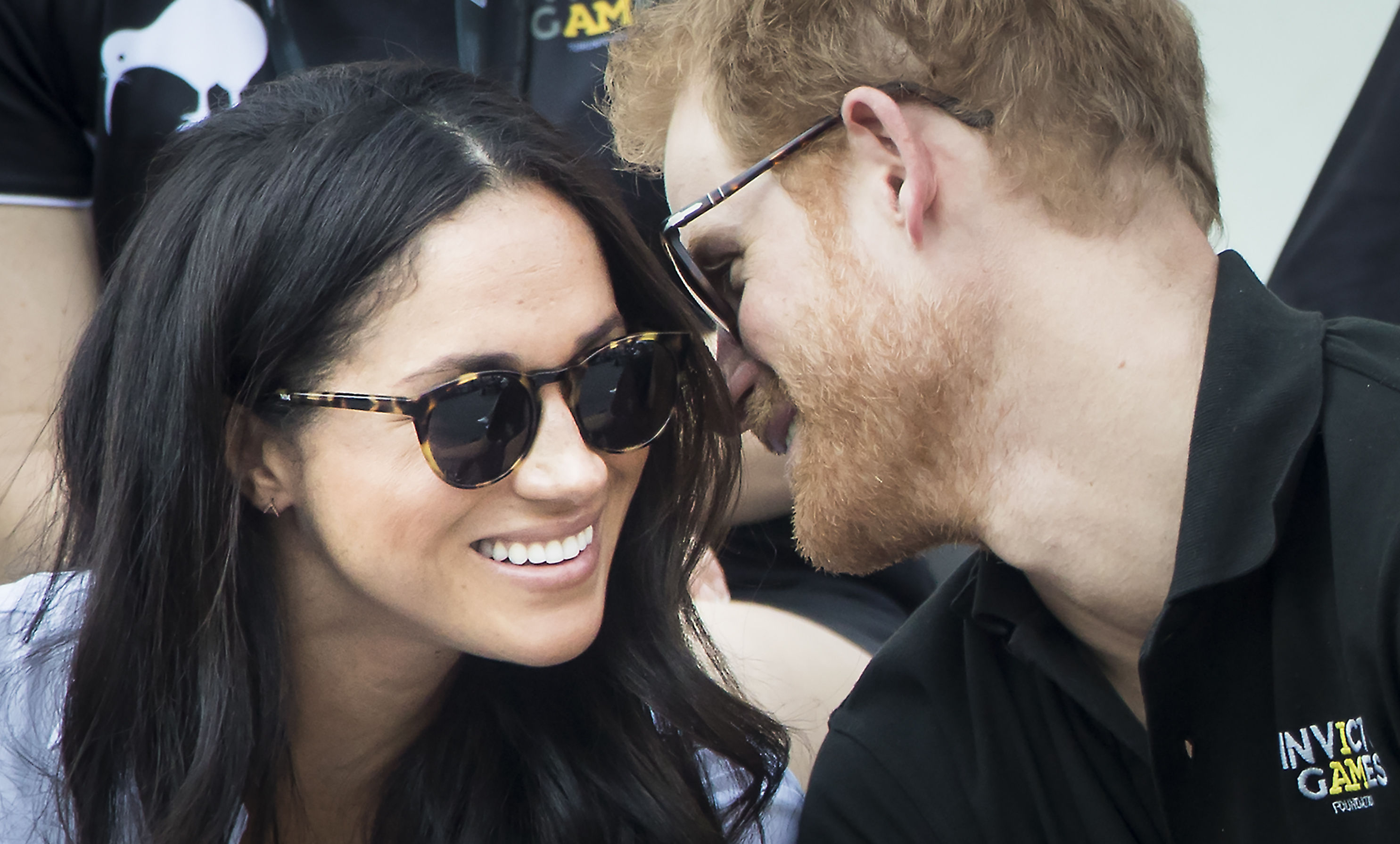 Prince Harry and Meghan Markle during wheelchair tennis at the 2017 Invictus Games in Toronto, Canada (Danny Lawson/PA)