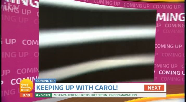 There appeared to be a technical error on Good Morning Britain (ITV/PA)