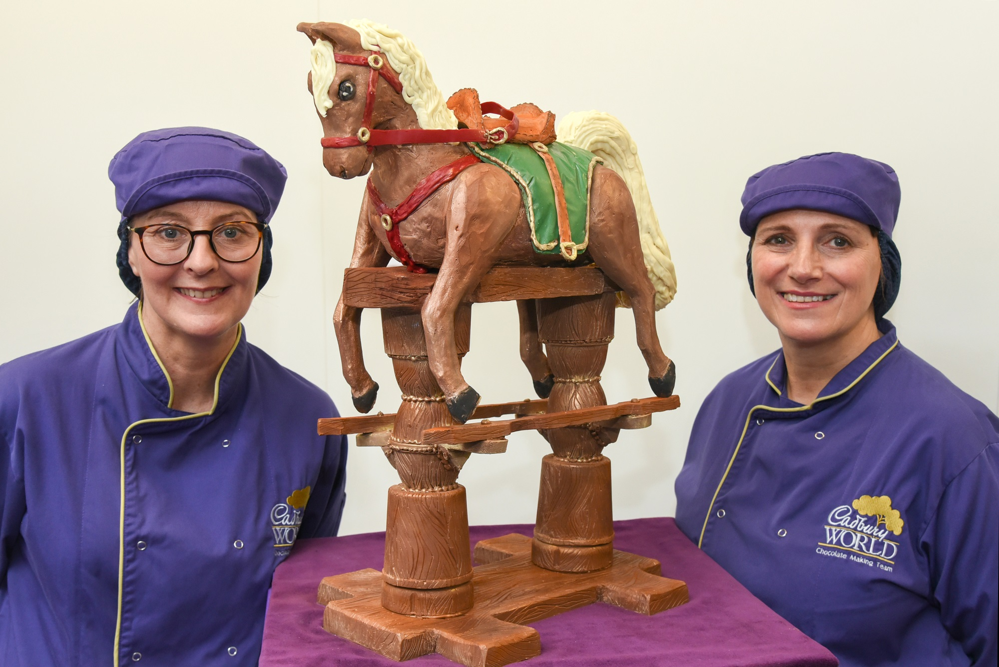 A chocolate rocking horse made for the arrival of the third baby for the Duke and Duchess of Cambridge (Cadbury's/PA)