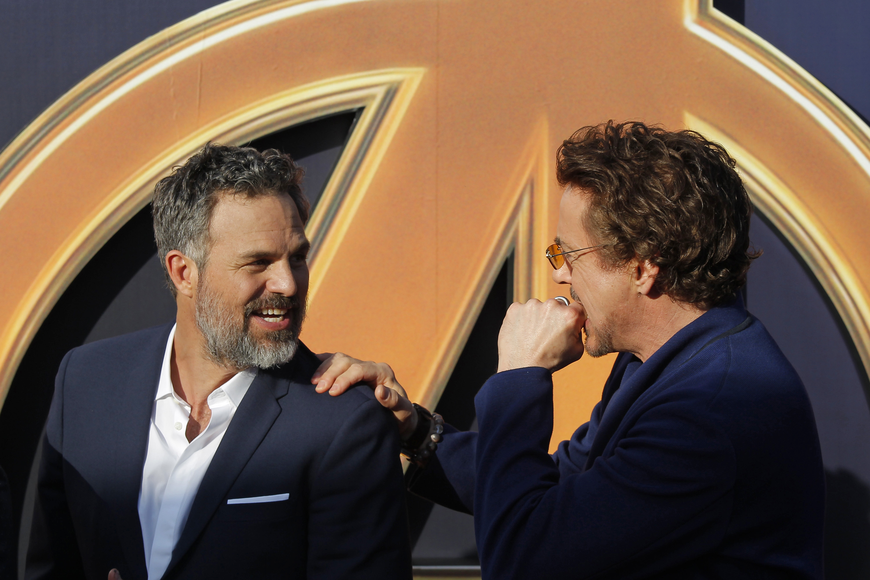 Mark Ruffalo and Robert Downey Jr make up the cast of Avengers: Infinity War (AP)