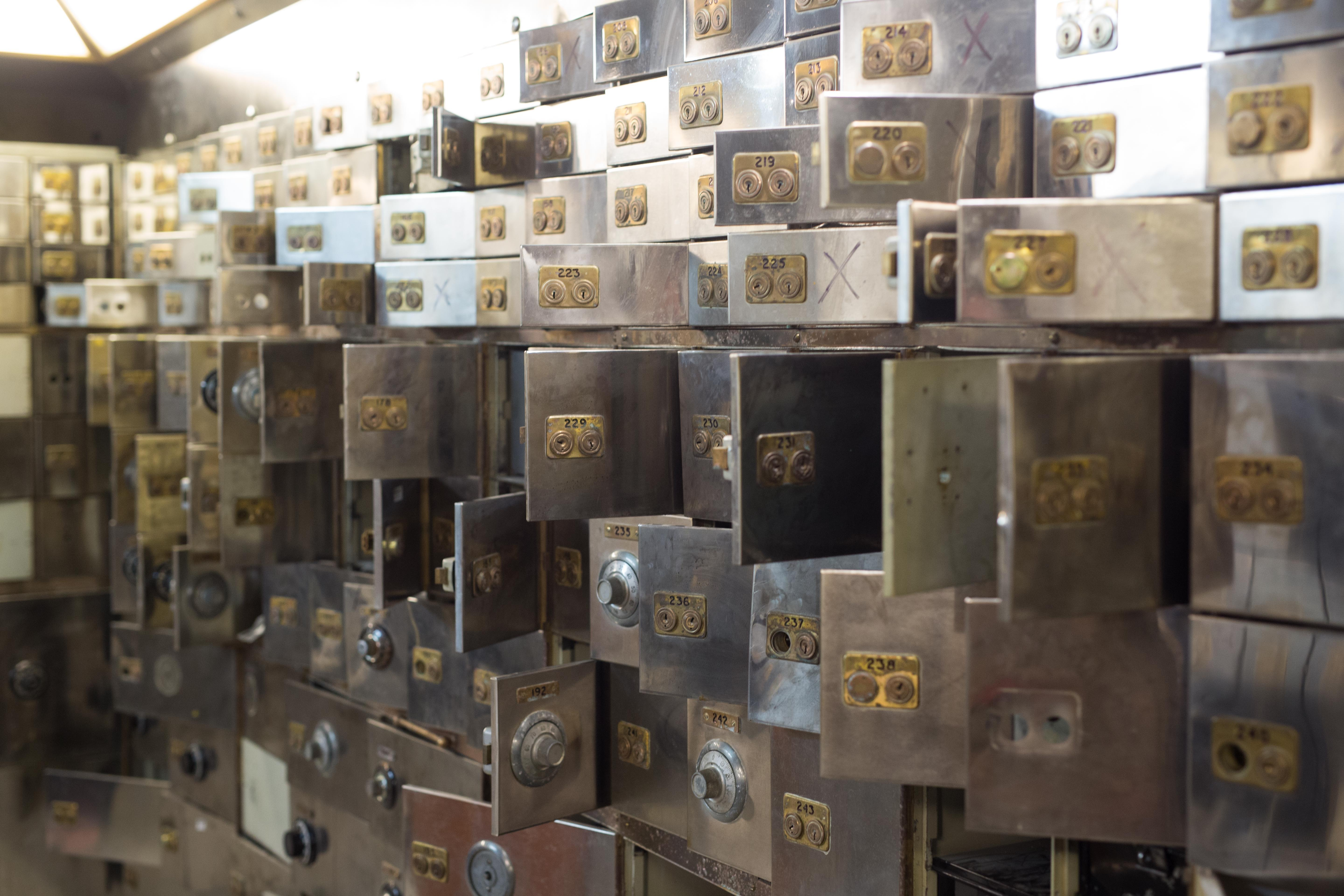 Safety deposit boxes at the Hatton Garden Safe Deposit (David Parry/PA)
