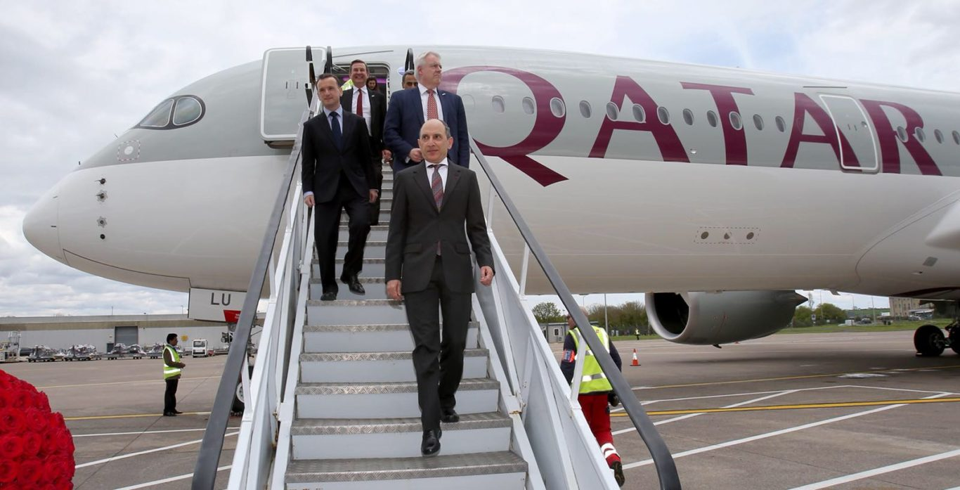 A number of VIPs travelled on the first flight (Qatar Airways/PA)