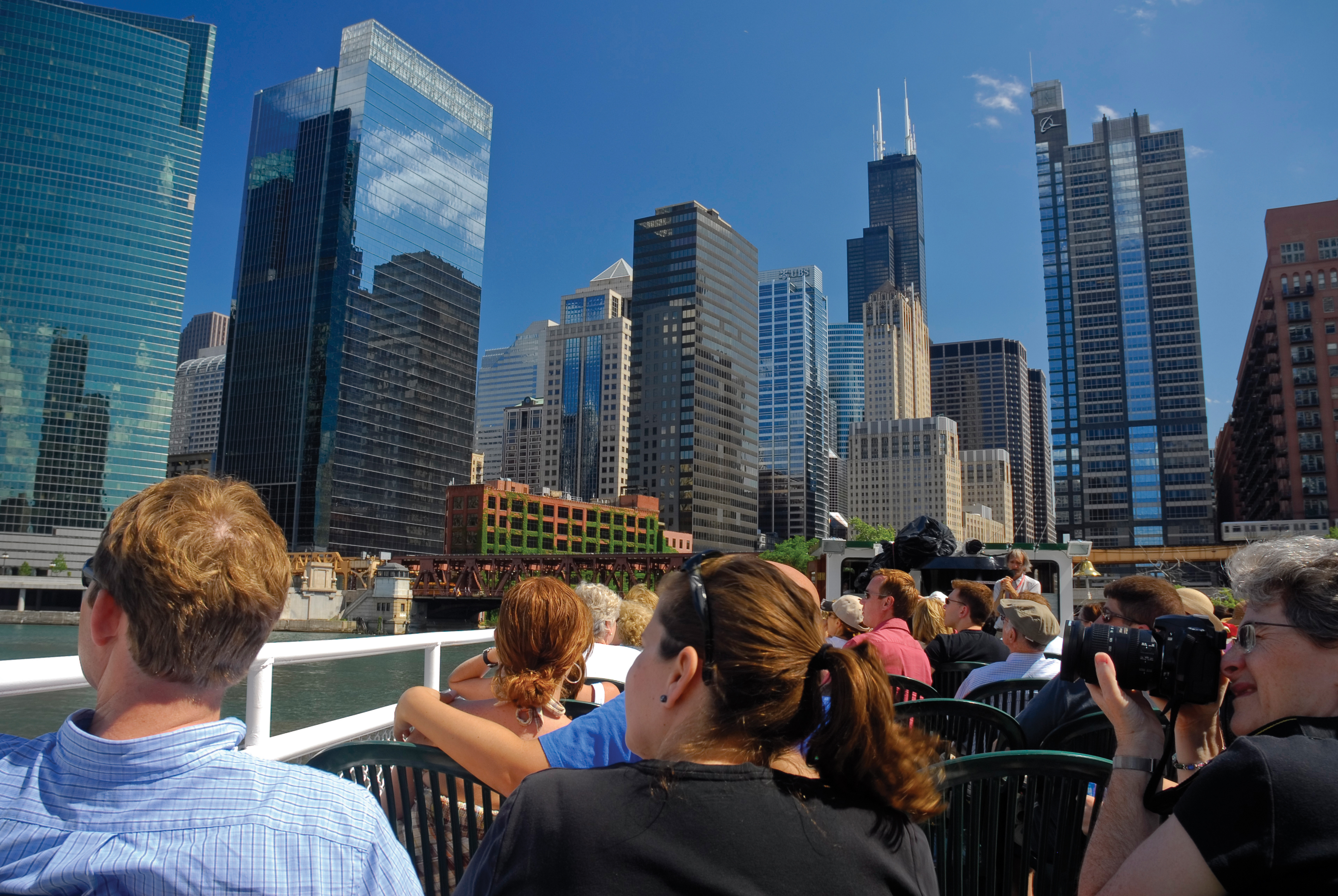 An architecture boat tour with First Lady Cruises (Choose Chicago/PA)
