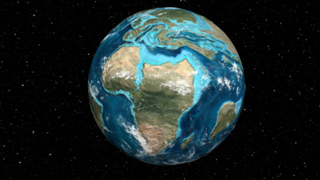 Ancient Earth Globe interactive map.