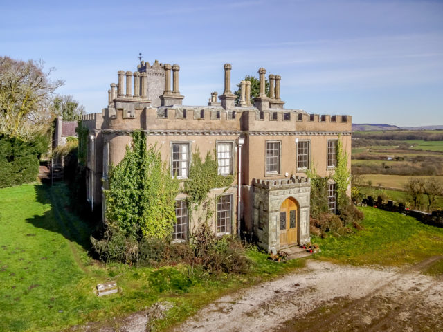 "The property enjoys a ""dominating position above woods and the River Thaw with far-reaching views over the Vale of Glamorgan to the Bristol Channel and Somerset Hills beyond"", according to the property particulars. (Knight Frank/PA)"