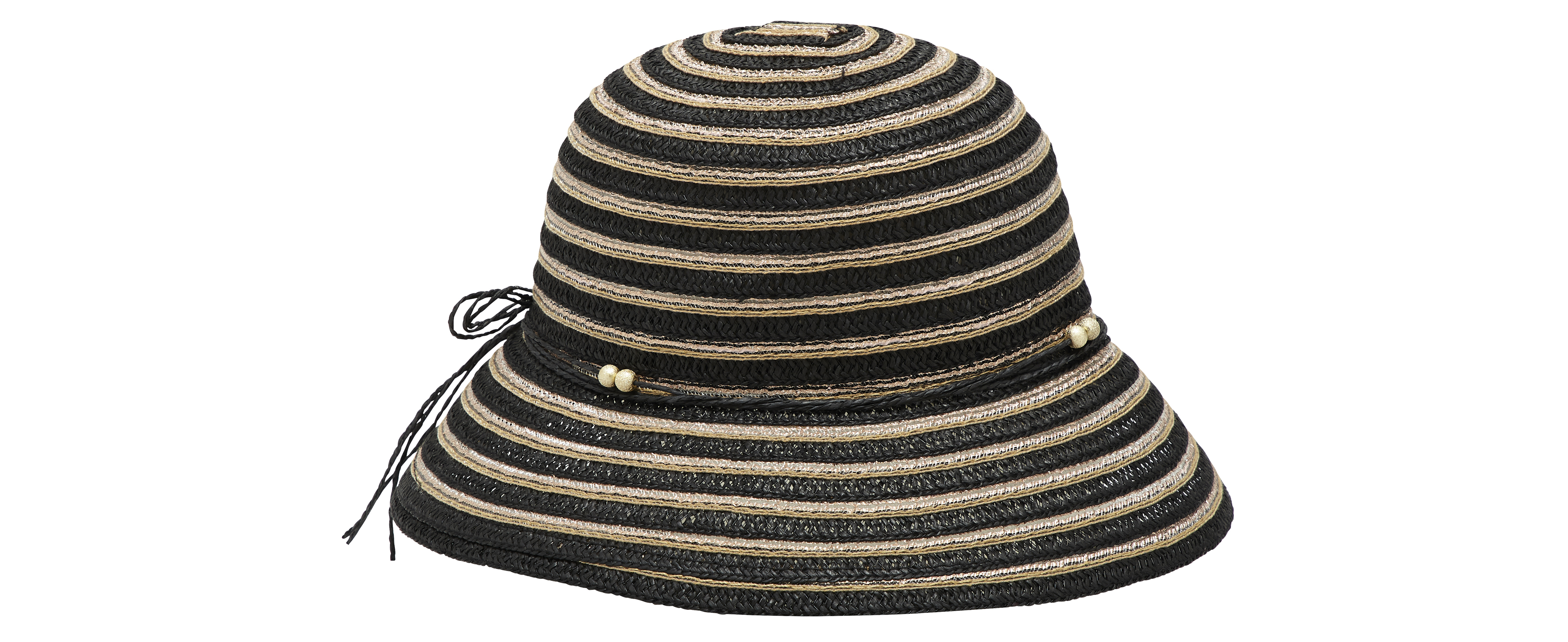 Matalan Stripe Cloche Hat