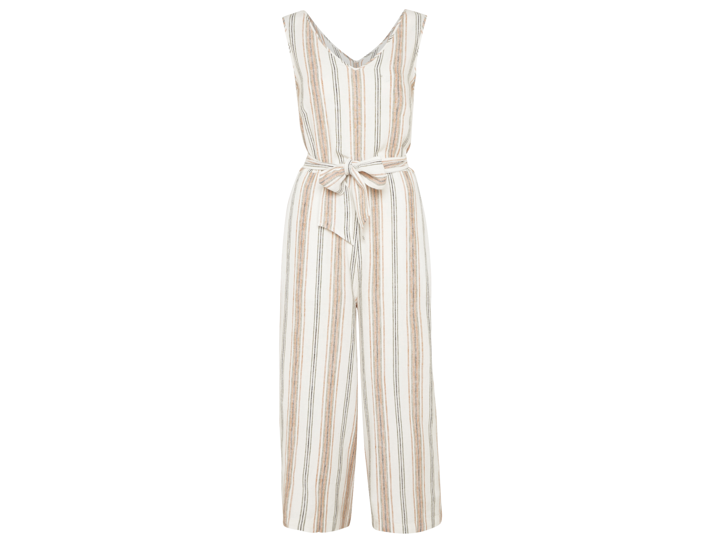 F&F Striped Linen Blend Culotte Jumpsuit