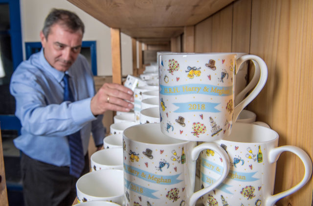 Milly Green royal wedding mugs are produced for John Lewis in Stoke (John Lewis/PA wire)