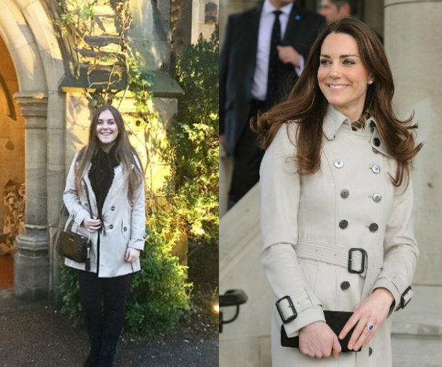 c08d5b538f7 Ruby in a copycat version of a trench coat Kate wore in Belfast in 2011 (PA  Real Life PA Archive PA Images)