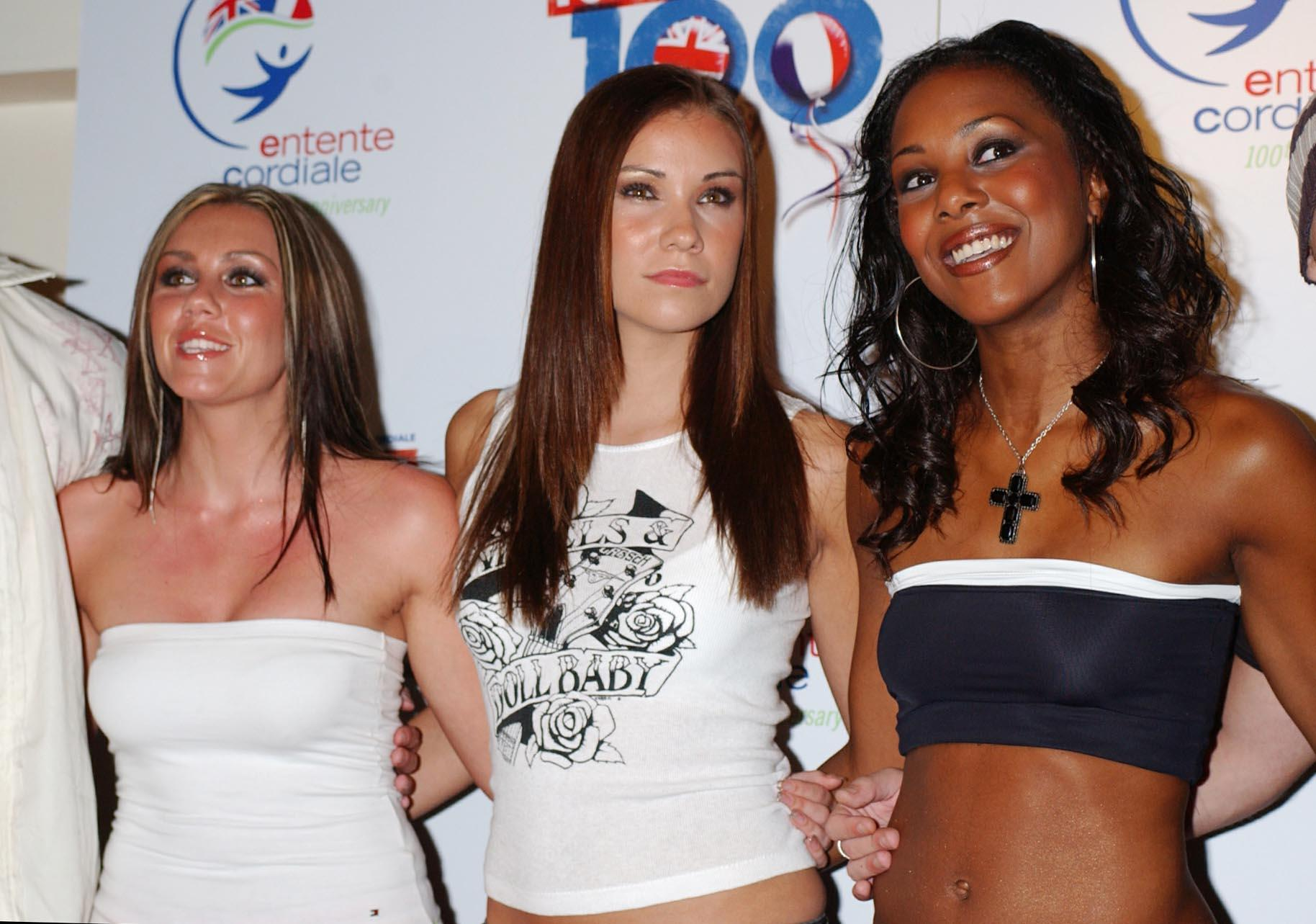 Singers Michelle Heaton, Jessica Taylor, and Kelli Young, from band Liberty X in 2004. (Andy Butterton/PA)