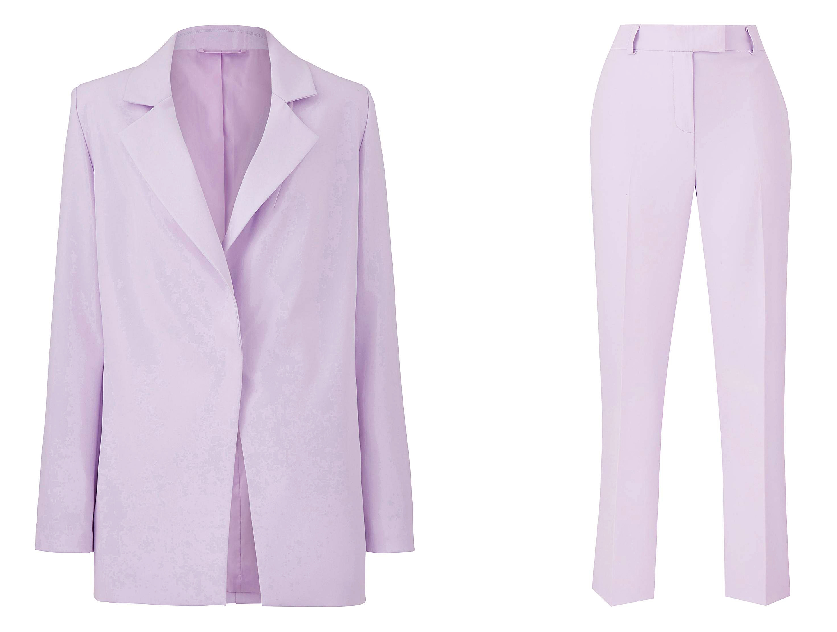 Simply Be Lilac Boyfriend Blazer and Tapered Leg Trousers