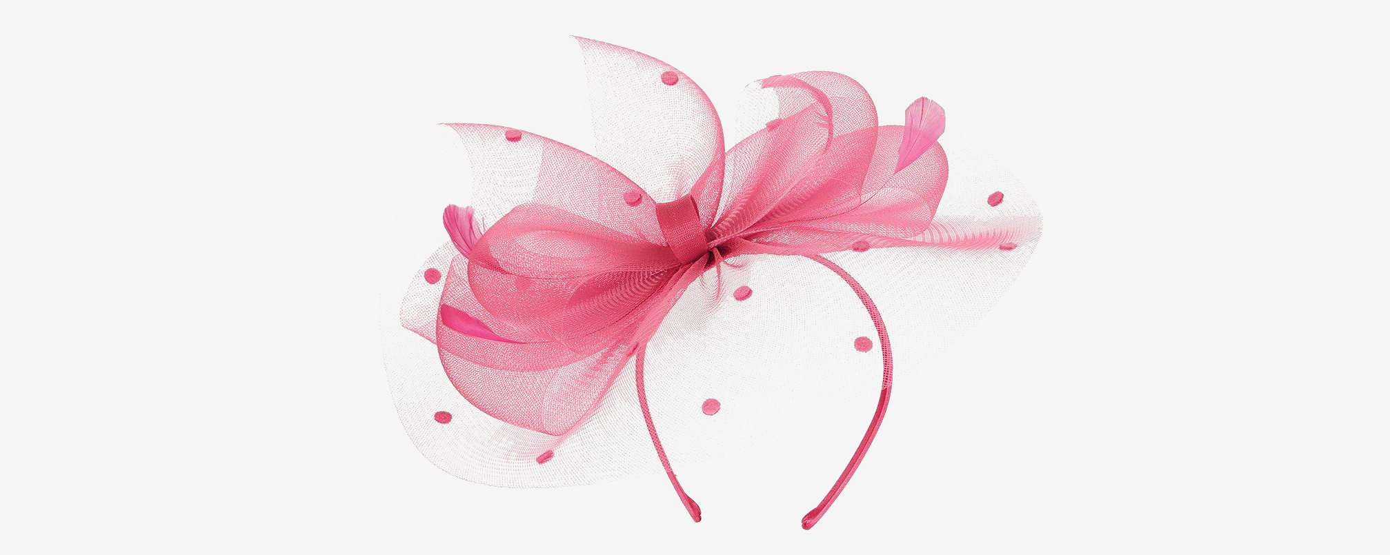 Dorothy Perkins Showcase Fuschia Spot Bow Fascinator
