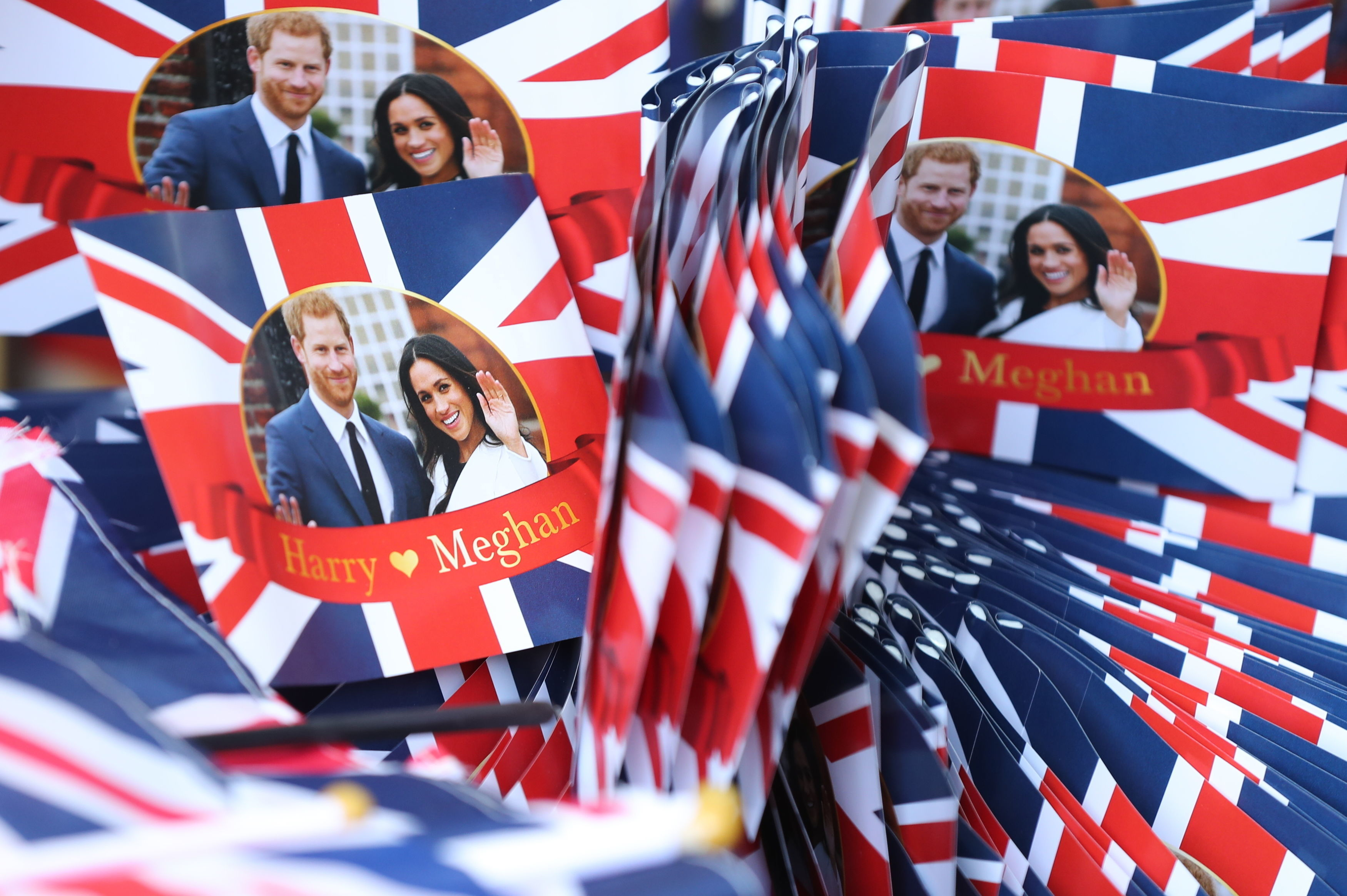Souvenirs in Windsor ahead of the wedding of Prince Harry and Meghan Markle
