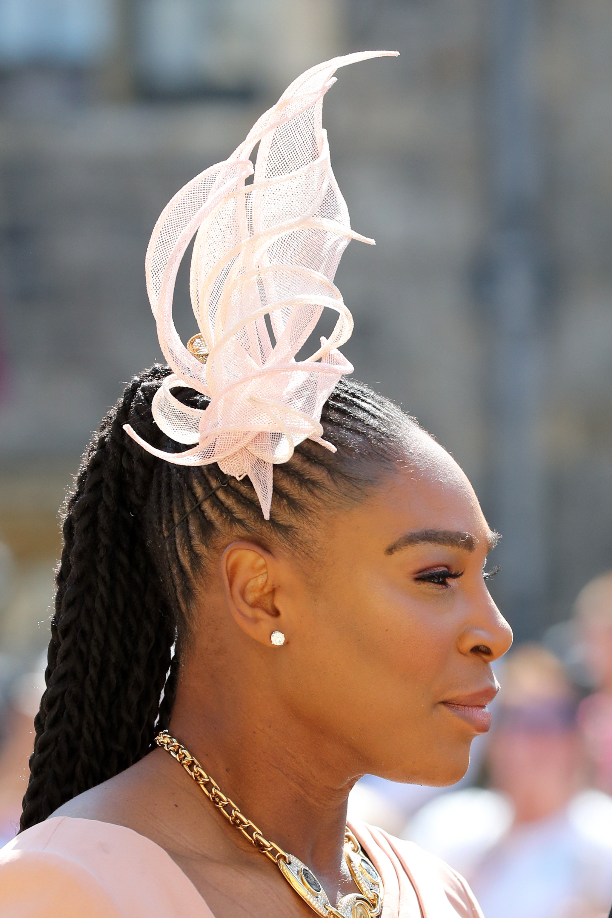Serena Williams opted for a delicate pink fascinator (Gareth Fuller PA) 7ccf4cc2bd18