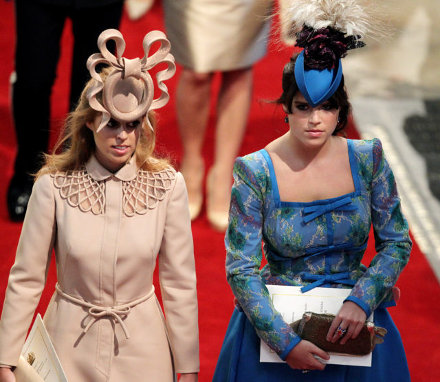Princess Beatrice and Princess Eugenie leave Westminster Abbey