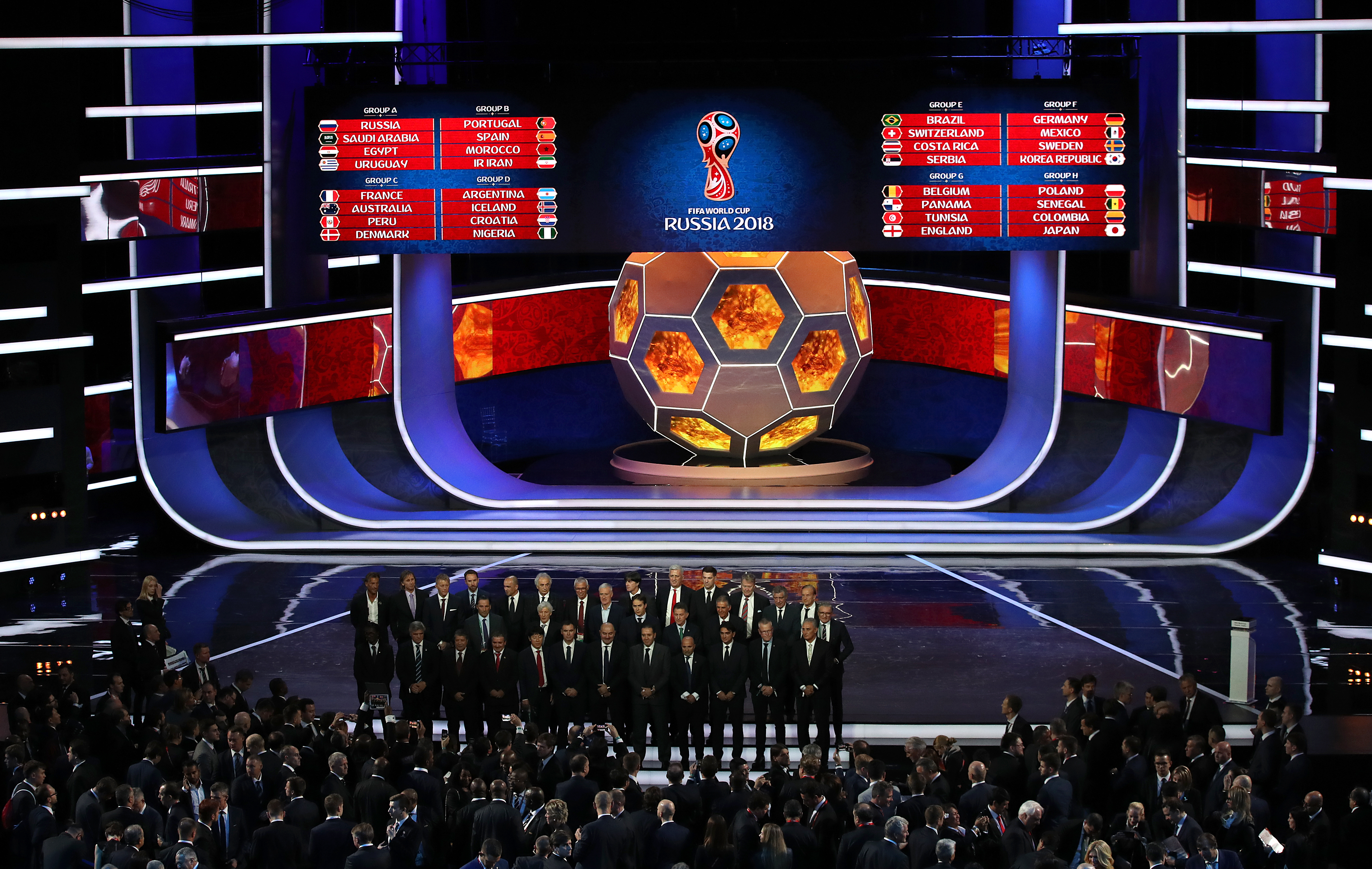 The 2018 Fifa World Cup draw