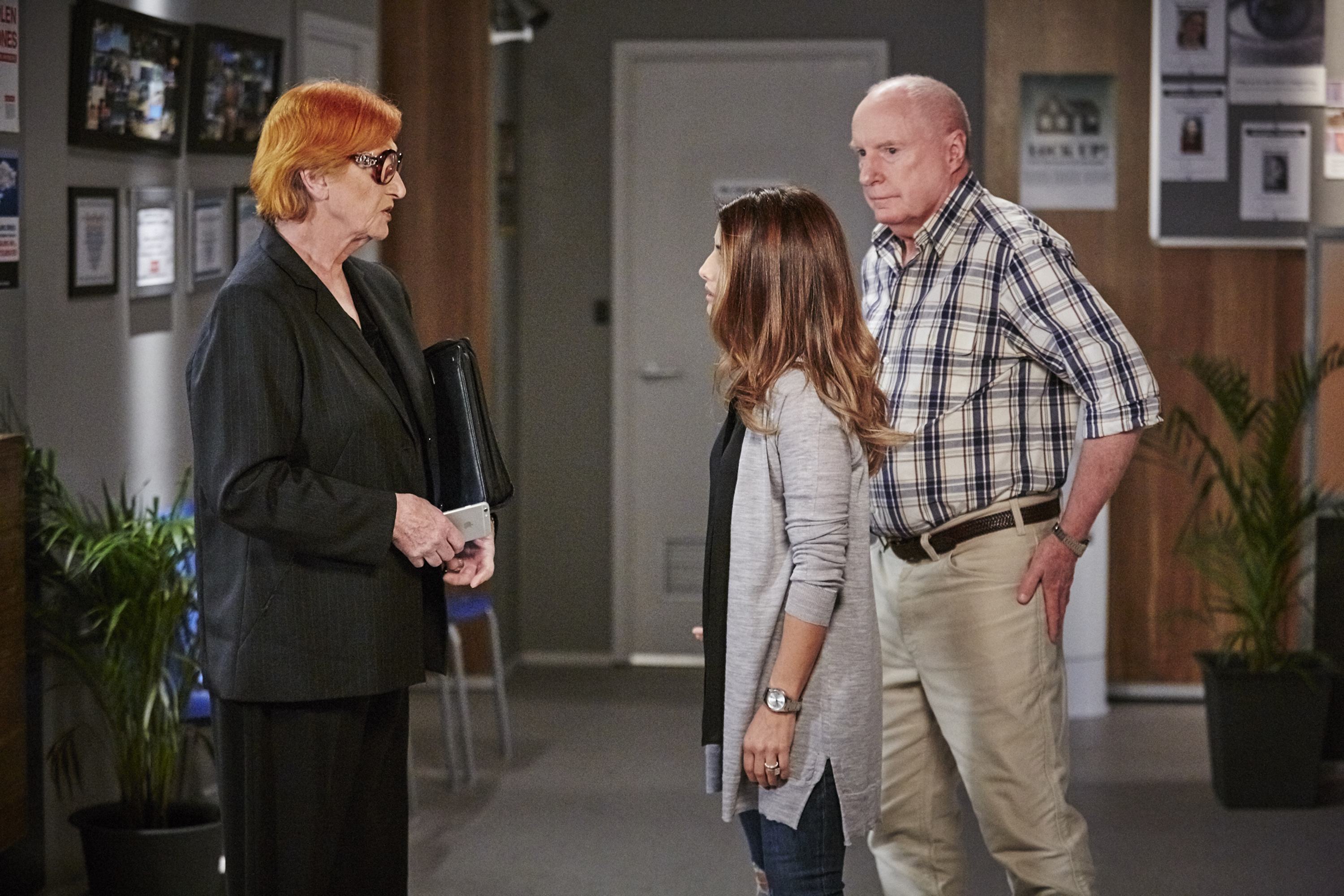 Cornelia Frances (left) in Home and Away (Channel 5)