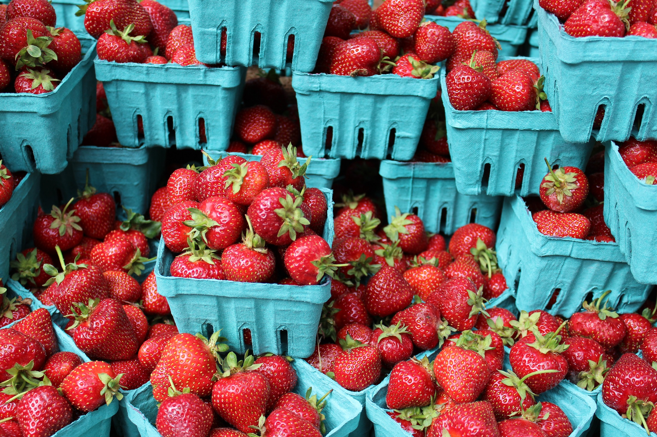 Strawberries in punnets (PA)