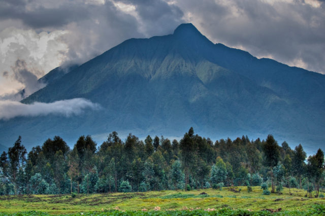 Virunga Mountains in Rwanda.
