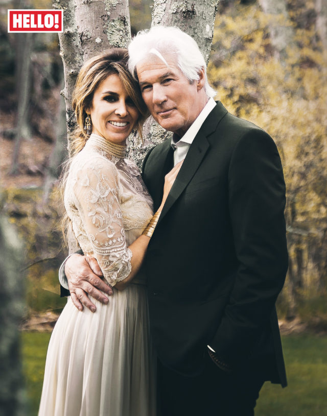Richard Gere and Alejandra Silva on their wedding day in April. (HELLO!)