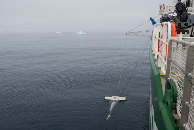 The expedition used trawl nets to sample for microplastics (Christian Aslund/Greenpeace/PA)