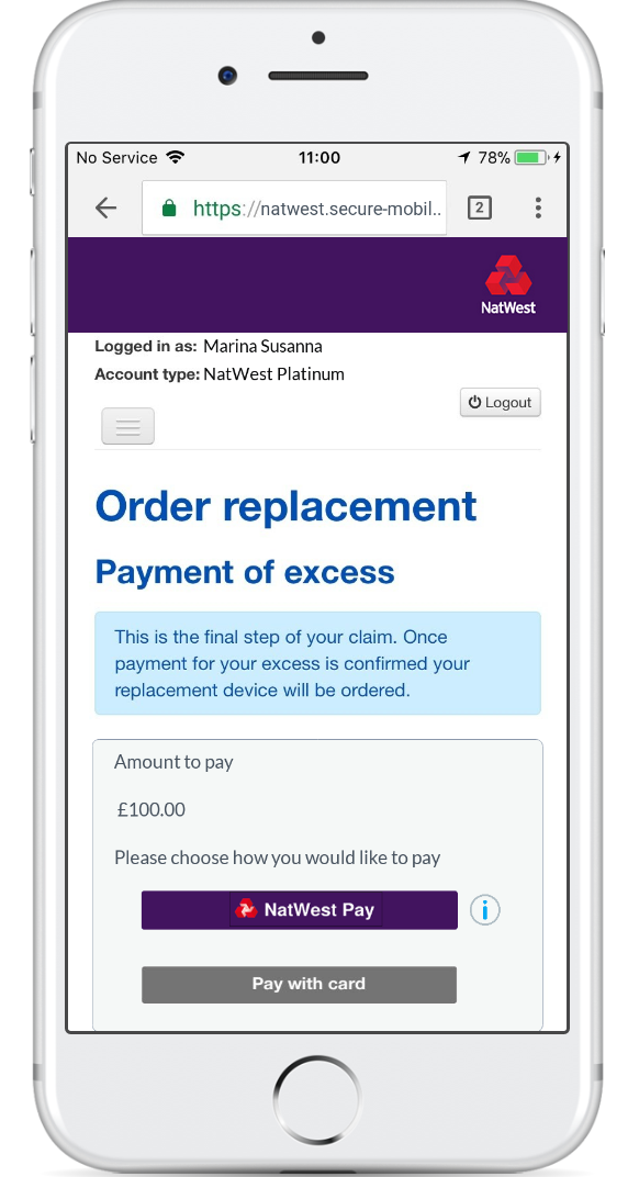 NatWest trials new payment method