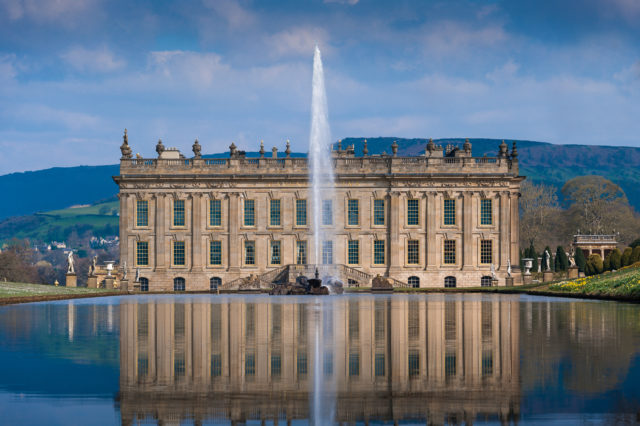 Chatsworth House, Derbyshire, makes the top 10 for art, architecture and sculpture (Chatsworth House Trust/PA)