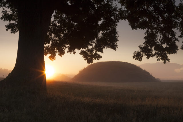 The mounds at Sutton Hoo were found to contain Anglo Saxon burial treasures (National Trust/PA)